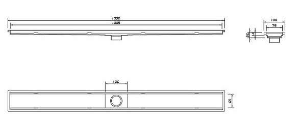 Ralo Linear Oculto 90 cm Dimensoes para Instalacao