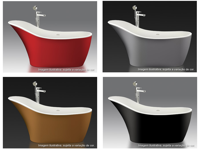 banheiras coloridas