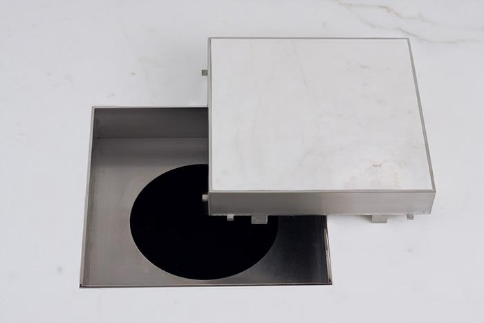 ralo invisivel inox macico 15 cm