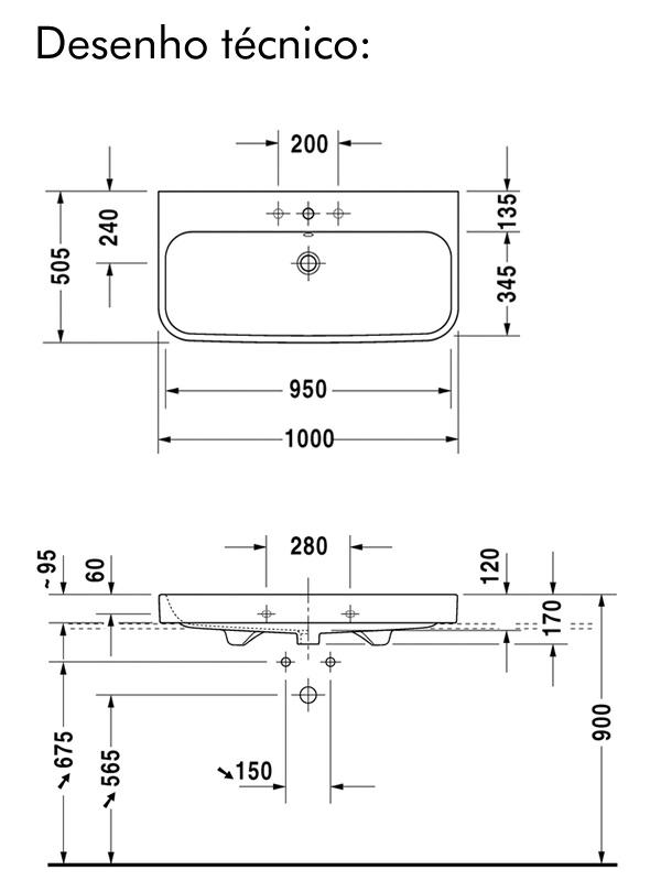 desenho tecnico cuba duravit happyd2