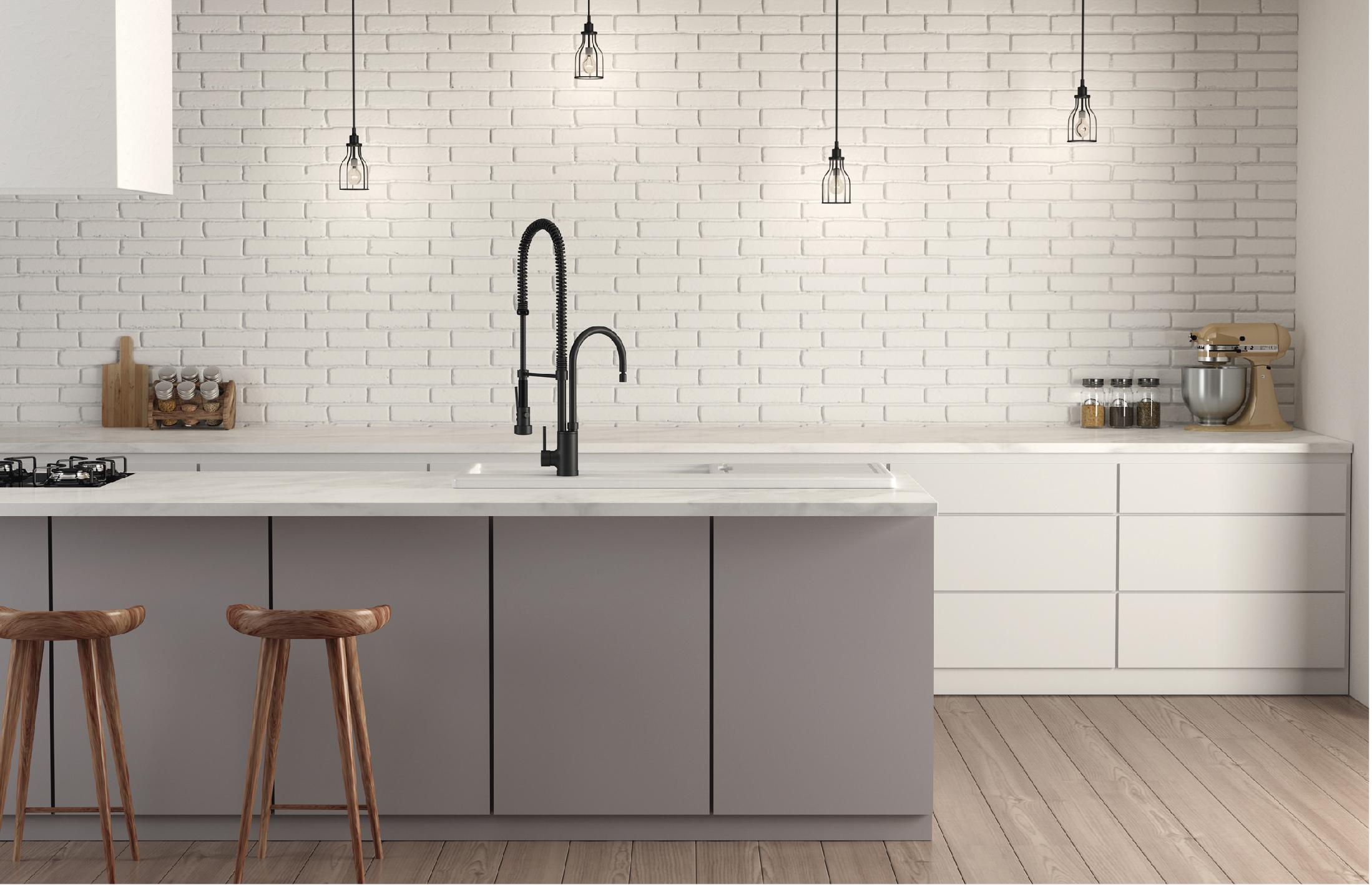Válvula de descarga Deca Slim e Chuveiro com tubo parede Quadrado #604A3F 2198x1418 Acessórios Banheiro Quadrado