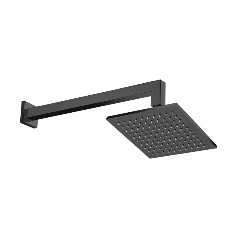 chuveiro quadrado black matte