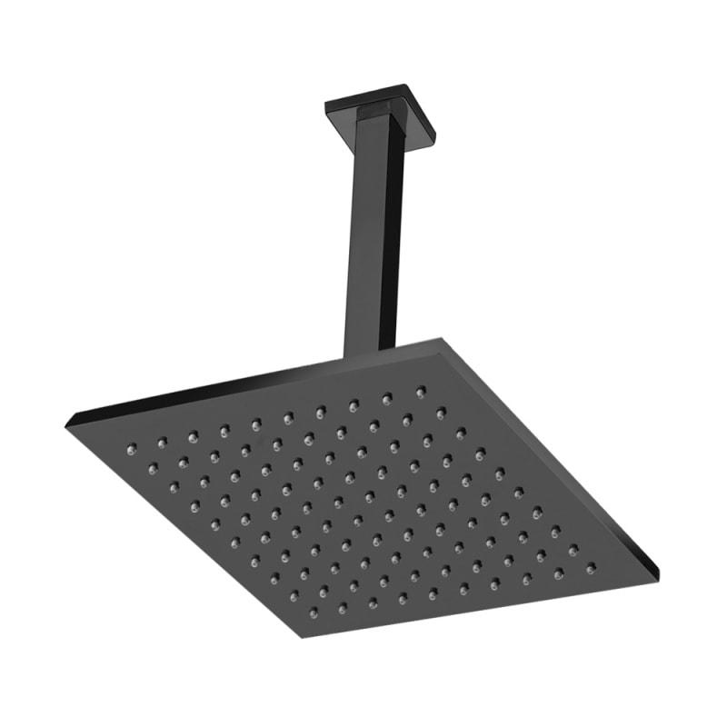 chuveiro de teto quadrado black matte